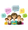 people folk logo design template opinion vector image