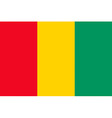 guinean flag vector image