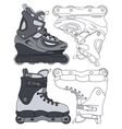 inline skates vector image vector image