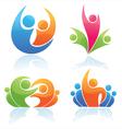 people logos vector image