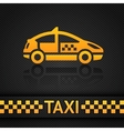 racing background template taxi cab backdrop vector image vector image