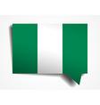 Nigeria flag paper 3d realistic speech bubble on vector image