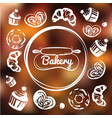 Bakery cafe identity concept chalkboard sweets as vector image