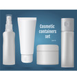 cosmetic containers set vector image