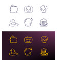 halloween thin line icons for web and mobile vector image