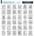 heavy power industry outline concept symbols vector image