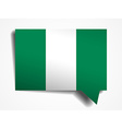 Nigeria flag paper 3d realistic speech bubble on vector image