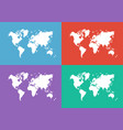 world map flat design vector image