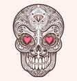 Cute mexican sugar skull vector image