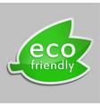 green sticker eco friendly vector image