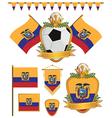 ecuador flags vector image vector image