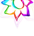 Abstract colorful flower vector image