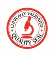 Clinically validated quality seal vector image