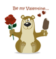 Valentines bear vector