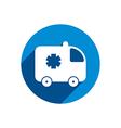 Ambulance car icon isolated vector image