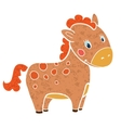 baby horse cartoon smile isolated simple vector image