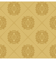 Baroque vintage seamless background vector image
