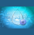 beauty treatment nutrition skin care design vector image