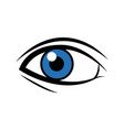 comic blue eye look optical style vector image
