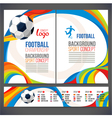 Concept soccer player with colored geometric vector image