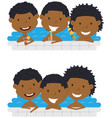 cute african american cheerful boys relaxing and vector image