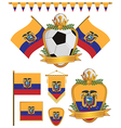 Ecuador flags vector image