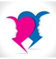 happy valentine day greeting vector image