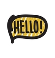 Hello bubble vector image