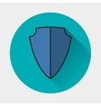 shield icon Armor symbol vector image