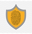 symbol finger print data vector image
