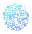 virtual reality line icon circle design vector image