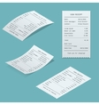 Set Paper check and financial check isolated vector image