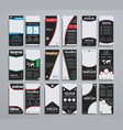 templates narrow black flyers 210x99 mm vector image