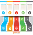 Modern banner infographic vector image vector image