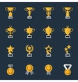 Award cups and trophy icons vector image vector image