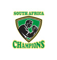 south africa rugby vector image vector image