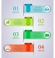 Infographics arrow template vector image