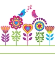 Decorative colorful funny flower background vector image vector image