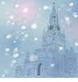 Christmas cityscape of Moscow Kremlin vector image