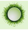 grassy circle vector image