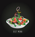 lifestyles - a plate with the salad vector image