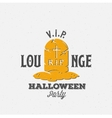 Lounge Halloween Party Label Template Grave with vector image