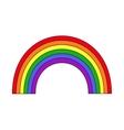 rainbow white background vector image