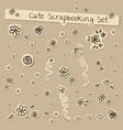 scrapbooking cute set in coffee colors vector image