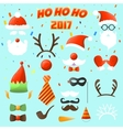 Set of Christmas party elements vector image