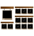 Set of wooden boards with empty frames vector image