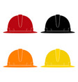 set of working safety helmets vector image