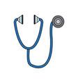 stethoscope medical equipment pulse health element vector image