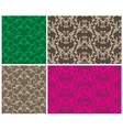 two elegant seamless patterns vector image