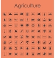 Set of agriculture simple icons vector image